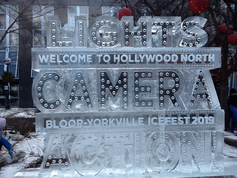 Ice, Sculptures and Film in My Beloved Yorkville in Toronto, Canada