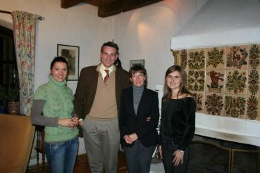 "Count Kalnoky and his wife (center) with Daria following the interview with Count Kalnoky for the documentary ""Brasov: Probably the Best City in the World"", directed by Bruno. An article about Count Kalnoky was also featured in Daria! magazine."