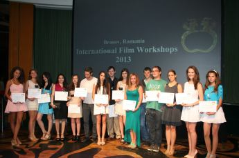 The graduates of Bruno Pischiutta's International Film Workshops in Brasov, Romania during the Global Nonviolent Film Festival (previously known as Brasov International Film Festival) where Daria! magazine was widely distributed.