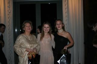 Daria Trifu (center) with Princesses de Polignac in Monte Carlo attending a private party for Daria! magazine.